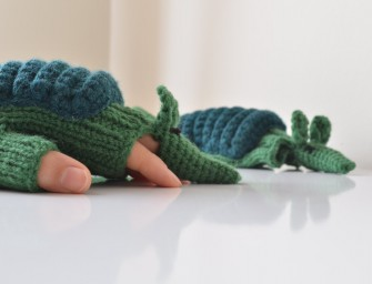 Hand knitted Armadillo Gloves for A Unique Winter Look