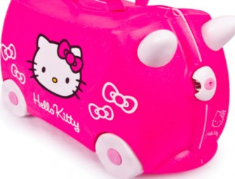Hello Kitty teams up with Trunki Ride-On Kids Suitcase