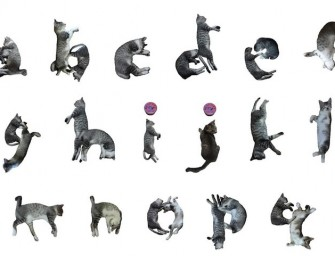 NekoFont:  Cat typography made up of cutesy cat poses