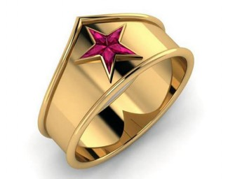 Wonder Woman Tiara Ring: For the strong and powerful woman
