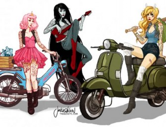 Beware of the Adventure Time Moped Gang