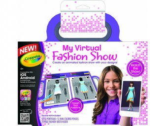 Crayola My Virtual Fashion Show Kit is for budding designers