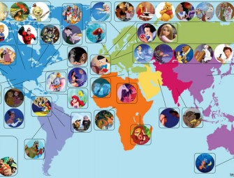 Artist creates world map locating all Disney Movies