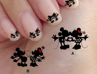 Romantic Disney Nail Art for Valentine's Day