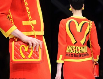 Moschino's new line inspired by Fast Food, Beer and Spongebob Squarepants