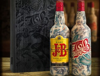 Sébastien Mathieu Tattoos Limited Edition J&B Whisky Bottles