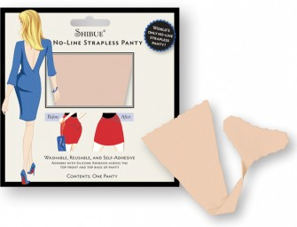 The Shibue Strapless Panty defeats panty lines forever!