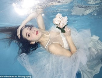 Trash the Dress Trend takes Britain by Storm with Underwater Wedding Photography