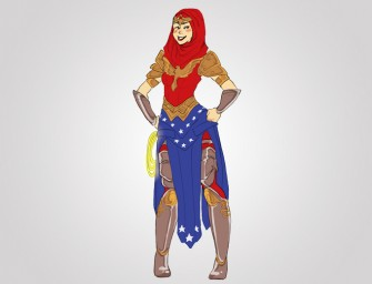 Fantastic Looking Muslim Wonder Woman in Hijab