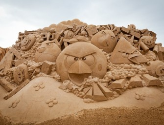 Angry Birds Sand Sculpture star of the Story Land sand displays