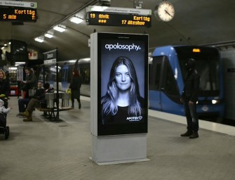 Apolosophy's Subway station outdoor ad comes alive when a train passes