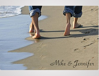 The Personalized Beach Walk Doormat: The epitome of romantic doormats