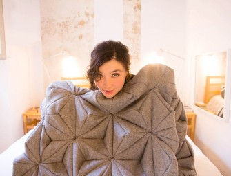 The Bloom Blanket: An origami inspired 3D geometric blankie