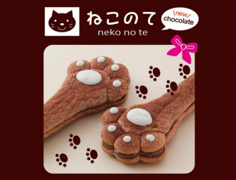 Kuro Neko No Te Pastry is shaped like a Cats Paw