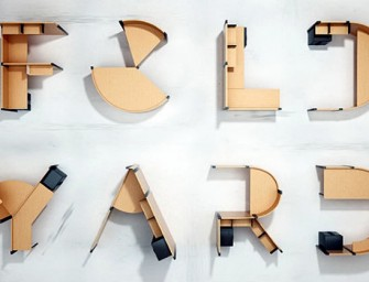 Fold Yard: Furniture shaped like letters of the alphabet