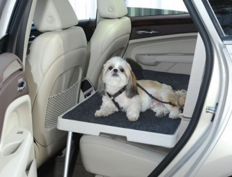 The Backseat Safety Dog Deck makes your doggie's next car drive a joyful experience