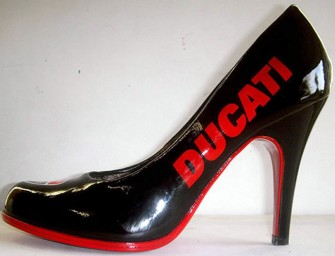 Customized and Stylish Ducati Shoes by French Artist