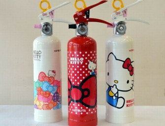 Hello Kitty Fire Extinguisher can tackle an emergency in an adorable way!