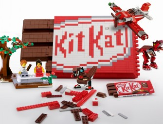 Lego Kit Kat Bar that can actually snap apart!
