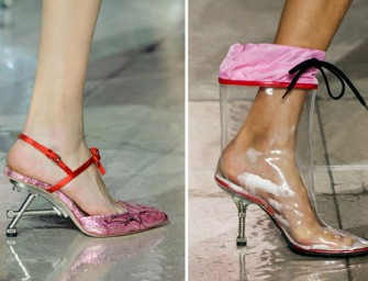 Go nuts: Miu Miu's fall 2014 Footwear made of Nuts and Doorstops