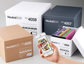 King Jim Storage Boxes allow you to see what's inside using your iPhone