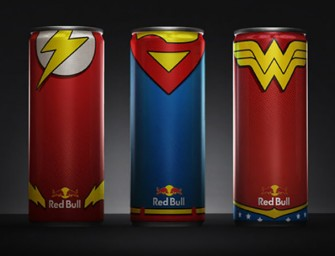 Red Bull Cans get a Superhero Makeover