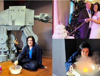 Geeky Harry Potter-Star Wars combined wedding of your dreams