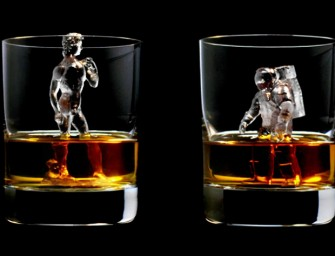 3D on the Rocks Ice Cube cools Your Scotch Designer Style