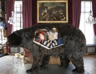 Hibernating: Artist Abraham Poincheval makes Hollow Carcass of Bear His Home