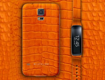 Luxurious Samsung Galaxy S5 case and Gear Fit  by Atelier