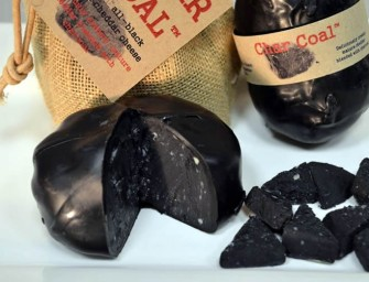 Charcoal Cheese looks ugly but palatable