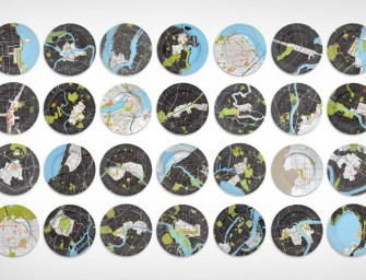 Love Your City, Love the City Map Dinner Plates