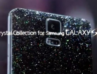 The Samsung Galaxy S5 Crystal Collection with a Swarovski covered rear case set to debut in Korea