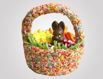DIY Edible Cereal Treat Easter Basket