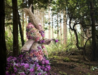 A dress made of 1000 purple flowers and Kirsty Mitchell: Magic caught on film