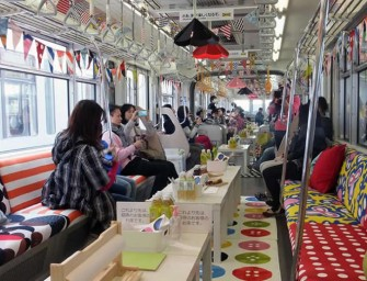 IKEA re-decorates a Japanese Monorail into a mini showroom