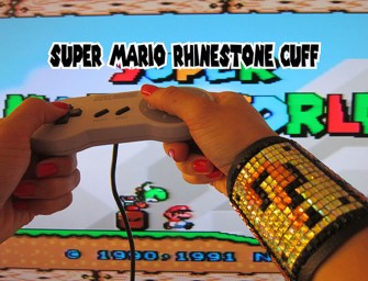 Get back in action with this Super Mario Rhinestone Cuff
