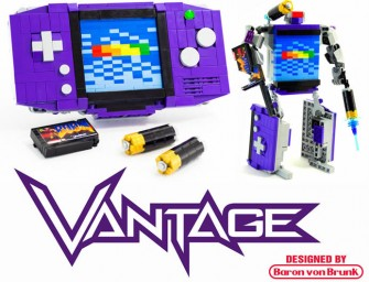"DIY LEGO Game Boy Advance – ""Vantage"": The classic game gets the transformer treatment"