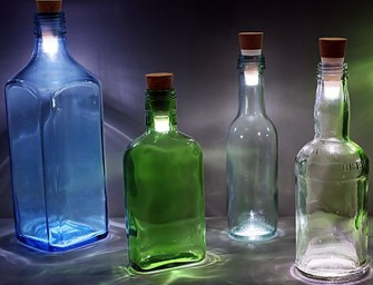 Bottle Light: Turns your old wine bottles into instant lamps