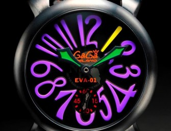 Eva-01 turned into a kickass waterproof watch by Gaga Milano
