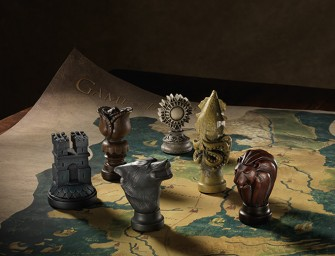 Game of Thrones Carved Map Marker Set with Map