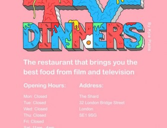 This Imaginary Menu illustrates menu items inspired by our favorite TV shows and Movies