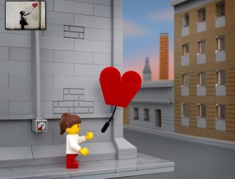 Banksy's Most Famous Street Art Pieces in Lego Called Bricksy Series