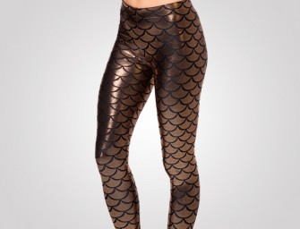 Mermaid Bronze Leggings: Set free your inner Ariel