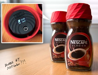 The Nescafé Alarm Cap: Wakes you up to the enticing aroma of coffee beans