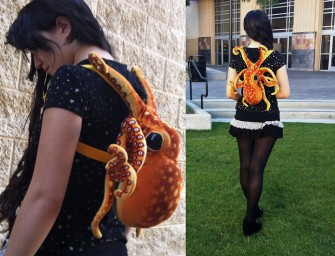 Plush Octopus Backpack can hold more in it's tentacles than you think!