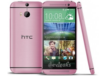 HTC One M8 looks Pretty In Pink