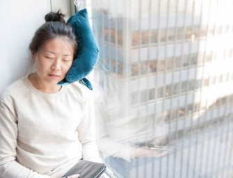The Window Travel Pillow helps you sleep through a journey like a baby