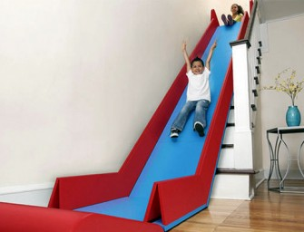 SlideRider: A foldable Slide that turns stairs into a slide!