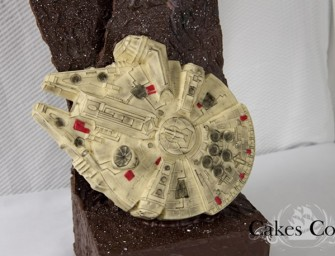 Chocolate Millennium Falcon Cake is for a dessert loving Jedi